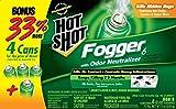 6-Pack : Hot Shot 96181-1 Indoor Pest Control Fogger, 4-Count Bonus Size, 6-Pack
