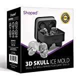 Shaped 3D Skull Ice Mold, Super Flexible Silicone