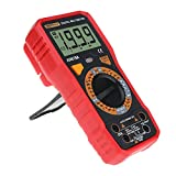 Digital Multimeter with Multimeter AC/DC voltmeter with Voltage, AC Current, Volt, Ohm, Diode and Resistance Test Meter (red)