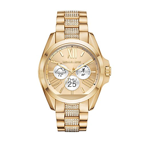 Amazon.com  Michael Kors Access, Women s Smartwatch, Bradshaw Gold-Tone  Stainless Steel, MKT5002  Watches fbde7c8eed
