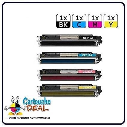 Lot 4 tóners láser genérico HP 126 A Compatible para impresora HP ...