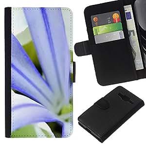 KingStore / Leather Etui en cuir / Samsung Galaxy Core Prime / Planta Naturaleza Forrest Flor 79