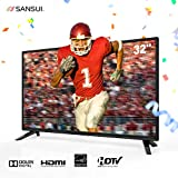Sansui 32 Inch TV 720p LED LCD HD Monitor Flat Screen TVs For Home Entertainment
