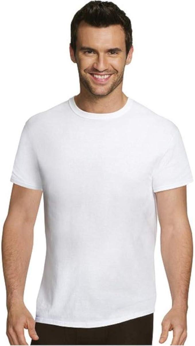 Hanes Ultimate® Men/'s Comfort Fit White Crewneck Undershirt 5-Pack