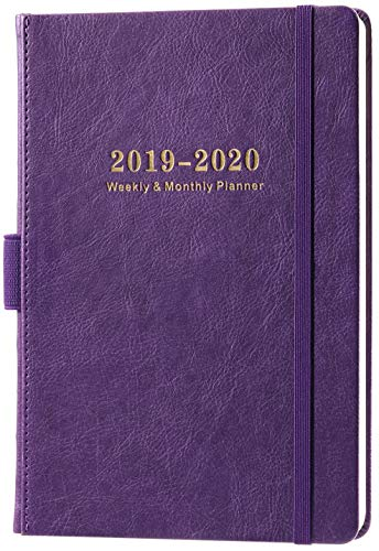 2019-2020 Academic Planner - Weekly & Monthly Planner with Calendar Stickers, A5 Premium Thicker Paper with Pen Holder, Inner Pocket and 88 Notes Pages