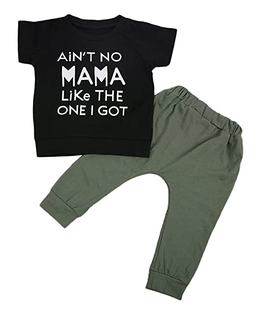 12deb0b9b Baby Toddler Boy 2PCS Kids Clothes Set Tops Pants Leggings Outfits:  Amazon.co.uk: Clothing