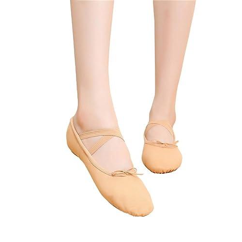 Gymnastik Schuhe Ballettschuhe Ballerina Balletschläppchen Jazz Tanzschuhe ljw3f83kOC