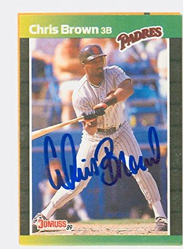 Chris Brown AUTOGRAPH d.06 1989 Donruss San Diego Padres