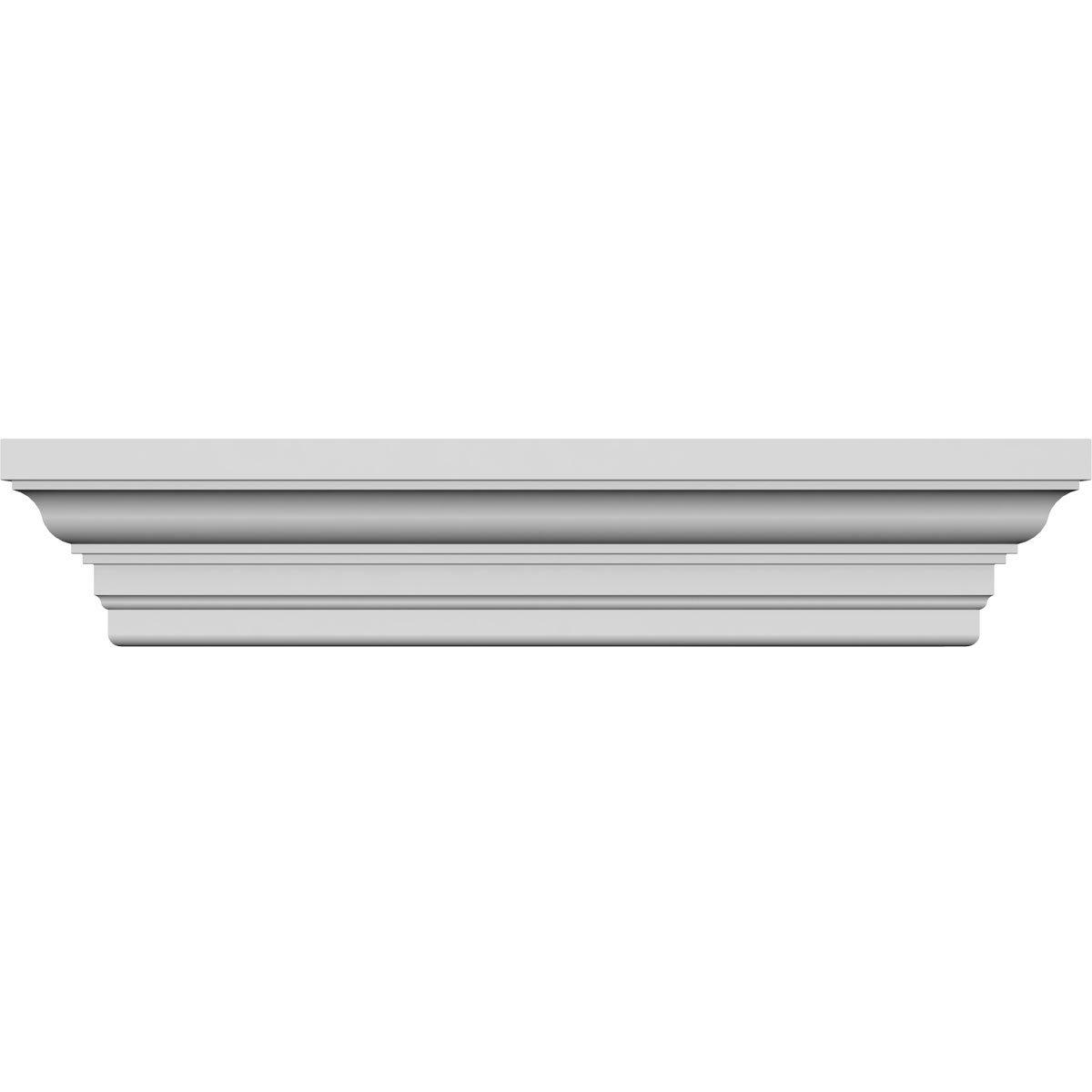 48 Bottom Width x 56 3//4 Top Width Ekena Millwork CRH08X48ST Crosshead Factory Primed White