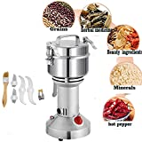 Mophorn 350g Electric Grain Grinder Mill Powder Machine Swing Type Commercial Electric Grain Mill Grinder for Herb Pulverizer Food Grade Stainless Steel (350g)