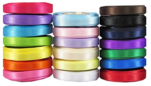100% Silk Satin Ribbon (Hipgirl 100 Yards 1/4