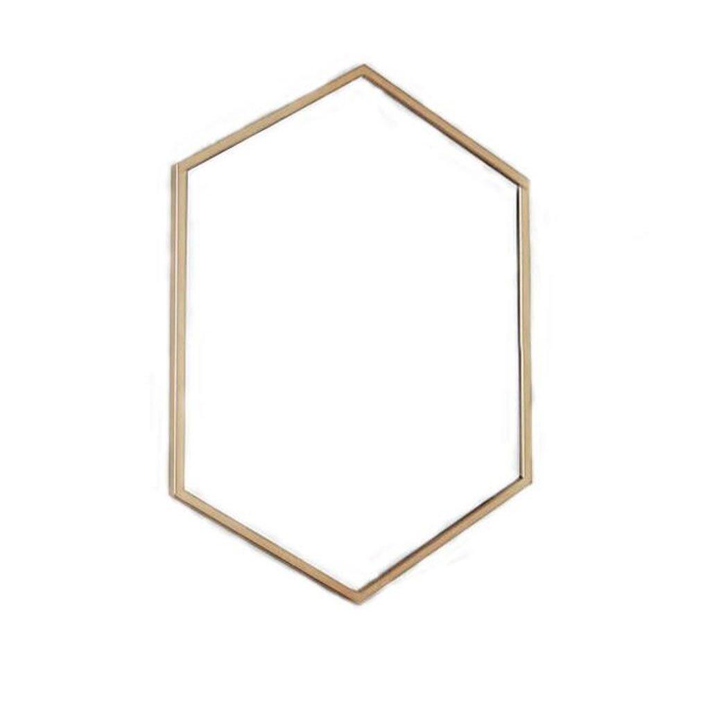 W40CMH60CM Brass Wall Mirror for Bathroom Makeup Living Room Vintage Style Decorative Mirror 0520A (Size   W40CMH60CM)