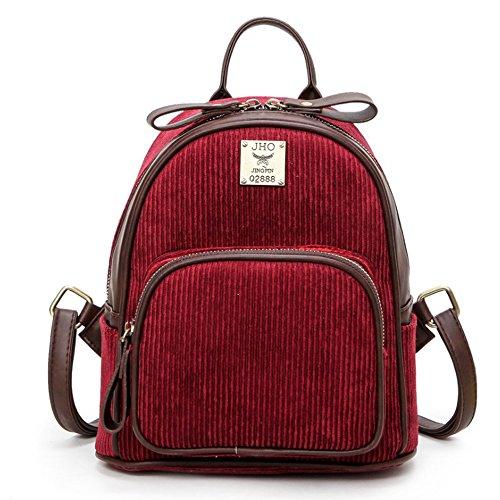 (JVP1016-R) material mochila vino tinto japonés 3way mochila bandolera popular ligero bolso de recuperación de la escuela de estilo casual escuela estilo Vino Tinto