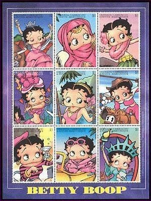 Grenada Grenadines - Betty Boop in different outfits, collectors -