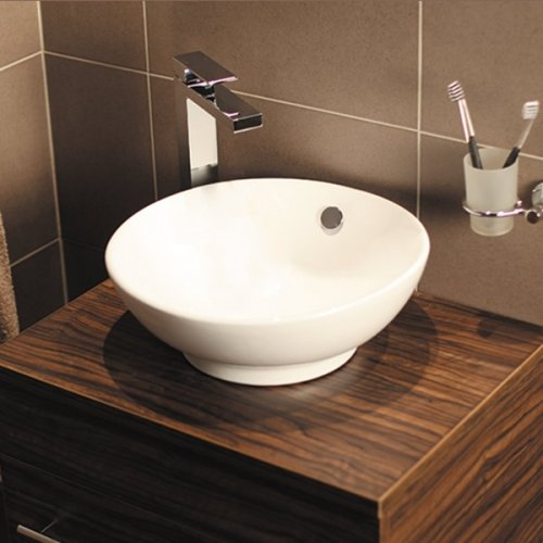 Countertop Sink Bathroom Basin Bowl White Ceramic: Amazon.co.uk ...