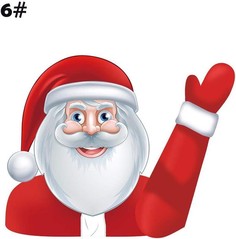 etichetta del tergicristallo Santa decalcomania delle decalcomanie del tergicristallo di Natale decalc Decalcomania del tergicristallo Adesivo decalcomania del tergicristallo posteriore di Natale