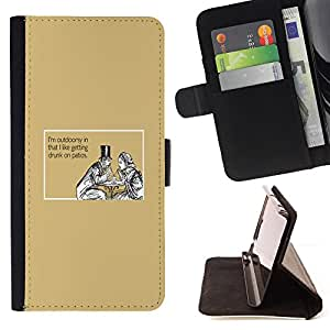 DEVIL CASE - FOR HTC One M9 - Man Woman Drinking Funny Quote Love - Style PU Leather Case Wallet Flip Stand Flap Closure Cover