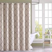 "Madison Park Saratoga Shower Curtain - Beige - 72x72"""