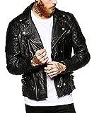 LeatherJacket4u Men's Moto Leather Jacket Mj 0263