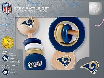 MasterPieces NFL Unisex NFL Wood Baby Rattles