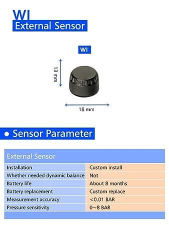 Ecoticfate /Tpms Motorrad Reifendruckkontrollsystem Intern 2 Sensor M3 Super Wasserdichter Sonnenschutz Reifendruck/überwachung Echtzeiterkennung Mit Hoher Genauigkeit Reifendruck/überwachung