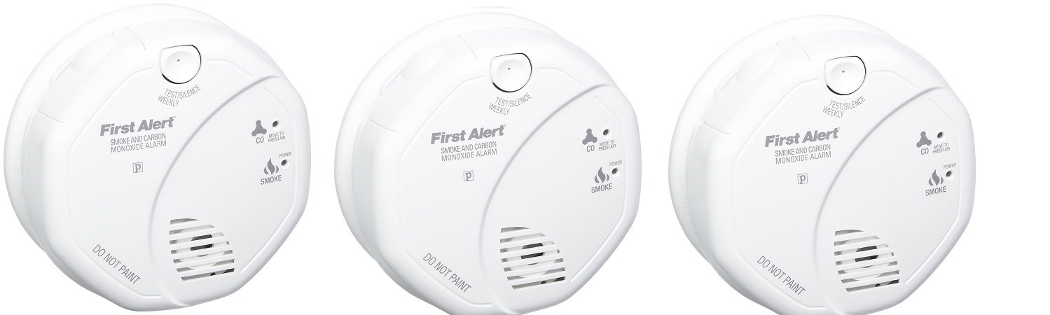 First Alert SCO5CN Combination Smoke and Carbon Monoxide Alarm, Battery Operated (3 PACK) by First Alert
