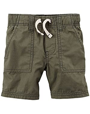 Carter's Baby Boys' Pull on Poplin Shorts - Olive - 3 Months