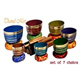 Chakra Healing Tibetan Singing Bowl Sets 7 Sets of Meditation Bowls From Nepal (seven colored)