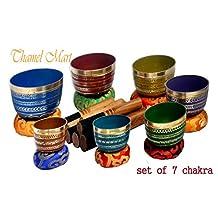 Chakra Healing Tibetan Singing Bowl Sets 7 Sets of Meditation Bowls From Nepal (seven colored)