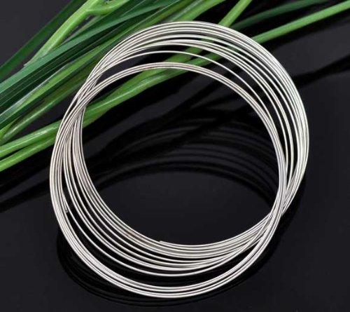 HOUSWEETY 200 Loops Memory Beading Wire for Bracelet 50-55mm HOUSWEETYB09062