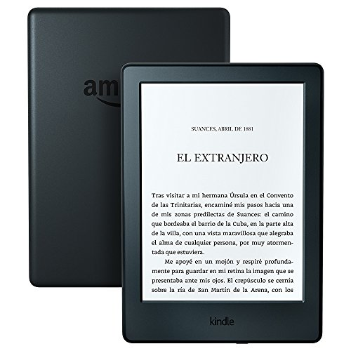 Kindle, pantalla E-ink sin reflejos, batería que dura semanas, color Negro, Wi-Fi, 2016, 8ª...