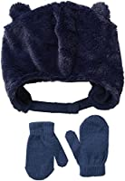 Toby & Company Toddler Boys Faux Fur Critter Trapper 2 Piece Set, Cloud, Toddler