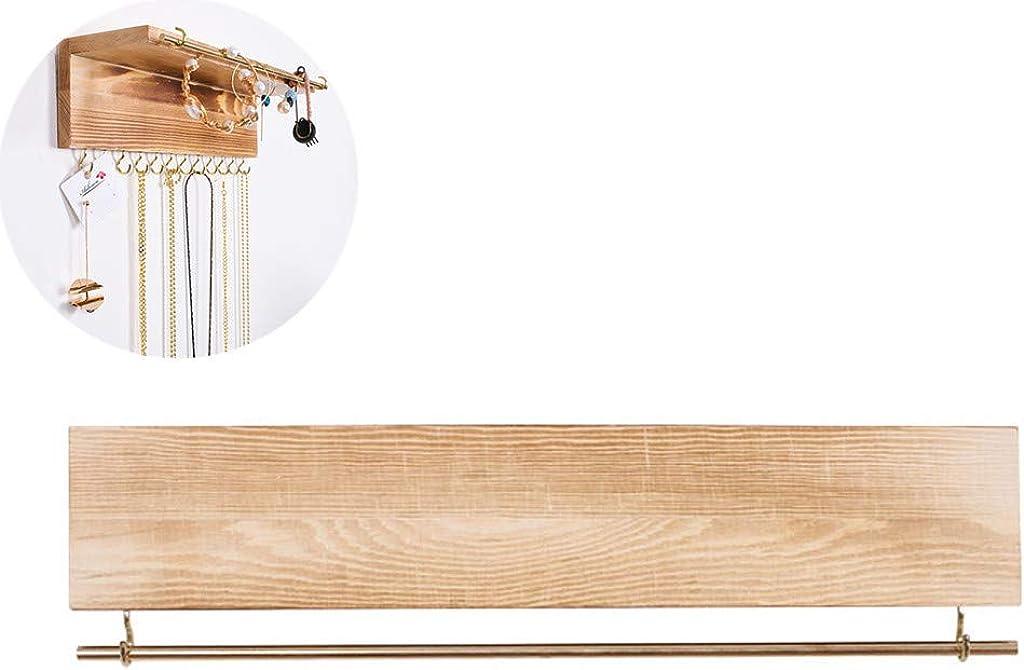 Bracelets Brown Bagues Lunji 3pcs Porte Bijoux Mural Bois pour Suspendre Colliers