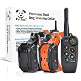 Cheap PetSpy M686B Dog Trainer Shock Collar for 2 Dogs with Vibra and Beep, Fully Waterproof Remote Training E-Collars