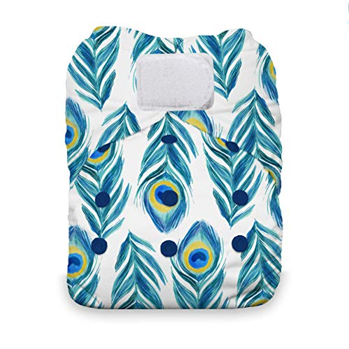 - Thirsties One Size All in One Cloth Diaper, Hook & Loop Closure, Plume