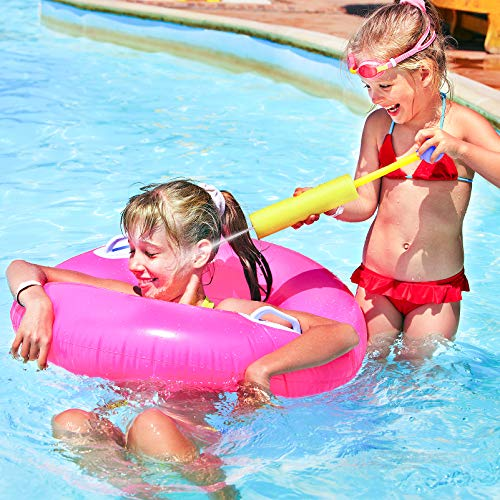 Toyze Water Guns for Kids, 4-Pack Water Blasters Pool Toys Outdoor Water Toys for Kids Backyard Water Games Super Soaker Squirt Guns Summer Outside Beach Toys Gifts for Boys Girls Ages 3-12 Toddlers
