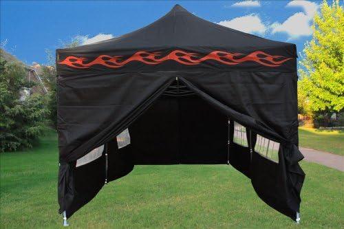 Delta 10 x20 Pop up 6 Walls Canopy Party Tent Gazebo Ez Black Flame