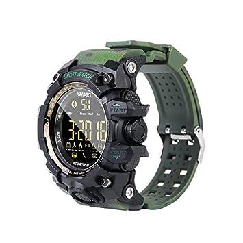 Desconocido EX16S Reloj Inteligente Deportivo Bluetooth IP67 podómetro Impermeable Reloj Inteligente Alarma Reloj cronómetro Reloj de Pulsera de Larga ...