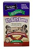 Three Dog Bakery Itty Bitty Bones, Baked Dog Treats, 12 ounces, Peanut Butter, My Pet Supplies
