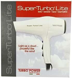 Turbo Power 325 Superf Turbo Lite 3300 Nano Tourmaline Ionic Ceramic Hair Dryer, 1700 Watt