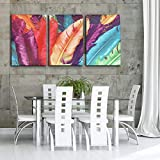 Wanrane Canvas Picture 3 Cascade Huge Modern Abstract Canvas Painting Decorative Wall Picture Home Decoration Unframed