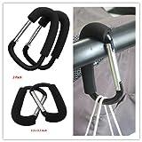 CHILDHOOD Baby Stroller Hook Carrier Strollers Aluminum Metal Hooks for Shopping Walking Pack of 2
