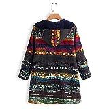 Long Coat, SFE Women Winter Warm Thick Cotton Linen Outwear Long Sleeve Zip Hooded Jacket