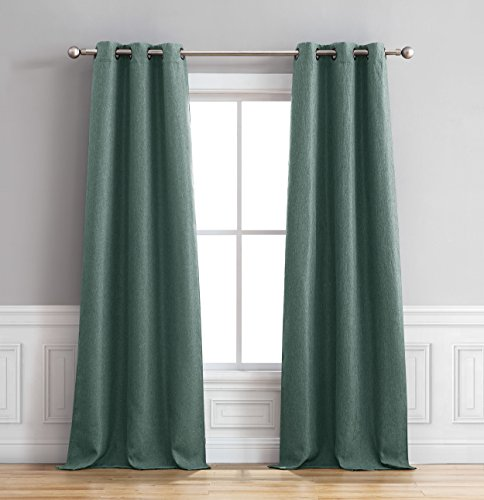 Bella Luna Henley Curtain Panel Pair, 76