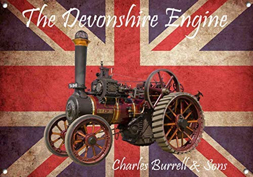 NGHF New Metal Sign Aluminum Sign Charles Burrell The Devonshire Steam Engine for Outdoor & Indoor 12