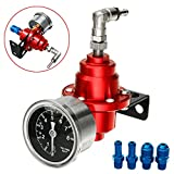 Pukido Adjustable Auto Car Pressure Regulator with kPa Gauge