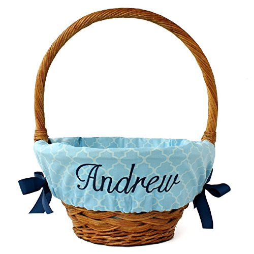 Trellis Personalized Easter Basket Liner, 4 colors, 2 sizes