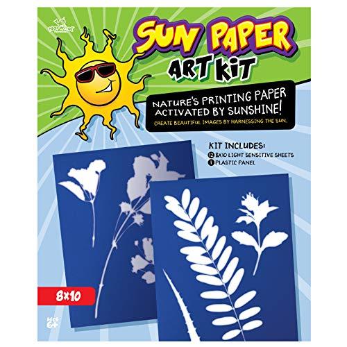 Light Sensitive Paper (Narwhal Novelties Sun Paper Art Kit, Photo Print Paper, Kids Love, Large)