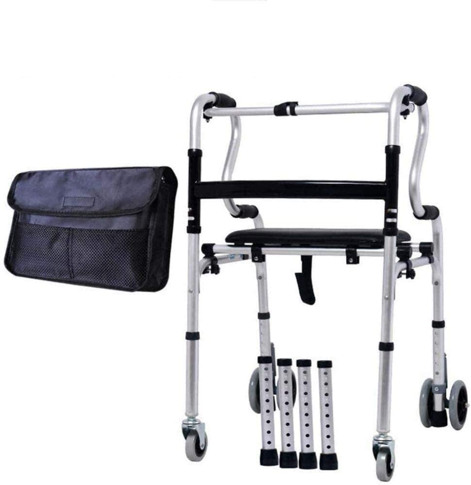 HLM- 身体障害者に のシート調節高齢ウォーカーフレームバスタブシャワーチェアバス座席スツールウォーキングの助けを借りて、医療機器アルミRollatorsウォーカー
