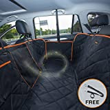 seat covers for back seat of cars - iBuddy Dog Seat Cover for Back Seat of Cars/Trucks/SUV, Waterproof Dog Hammock for Back Seat with Mess Window, Side Flaps and Dog Seat Belt Anti-Scratch Nonslip Machine Washable Pet Seat Cover